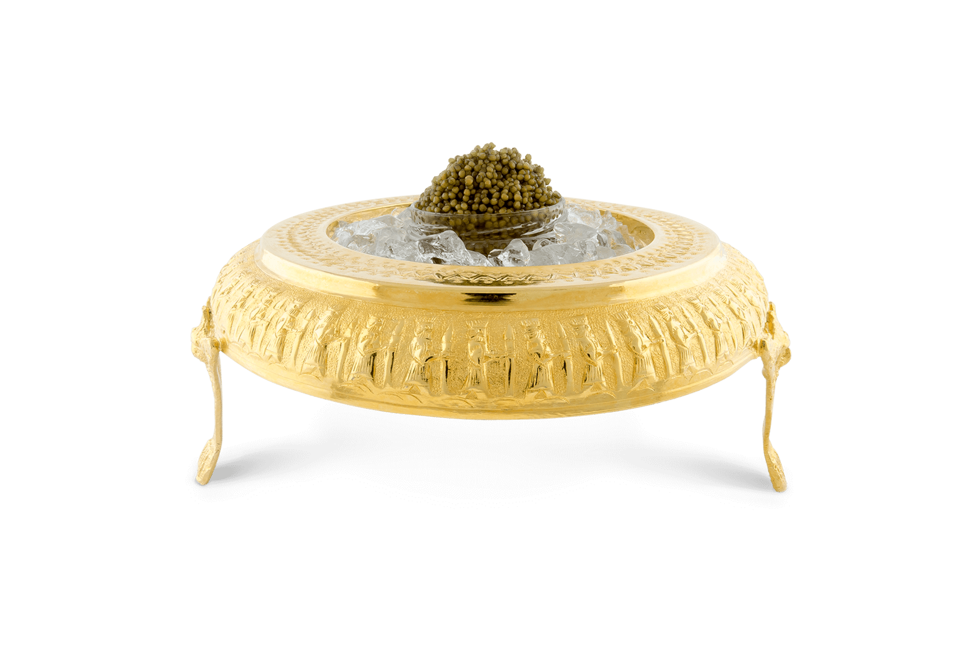 Caviar Bowl with 24k Gold